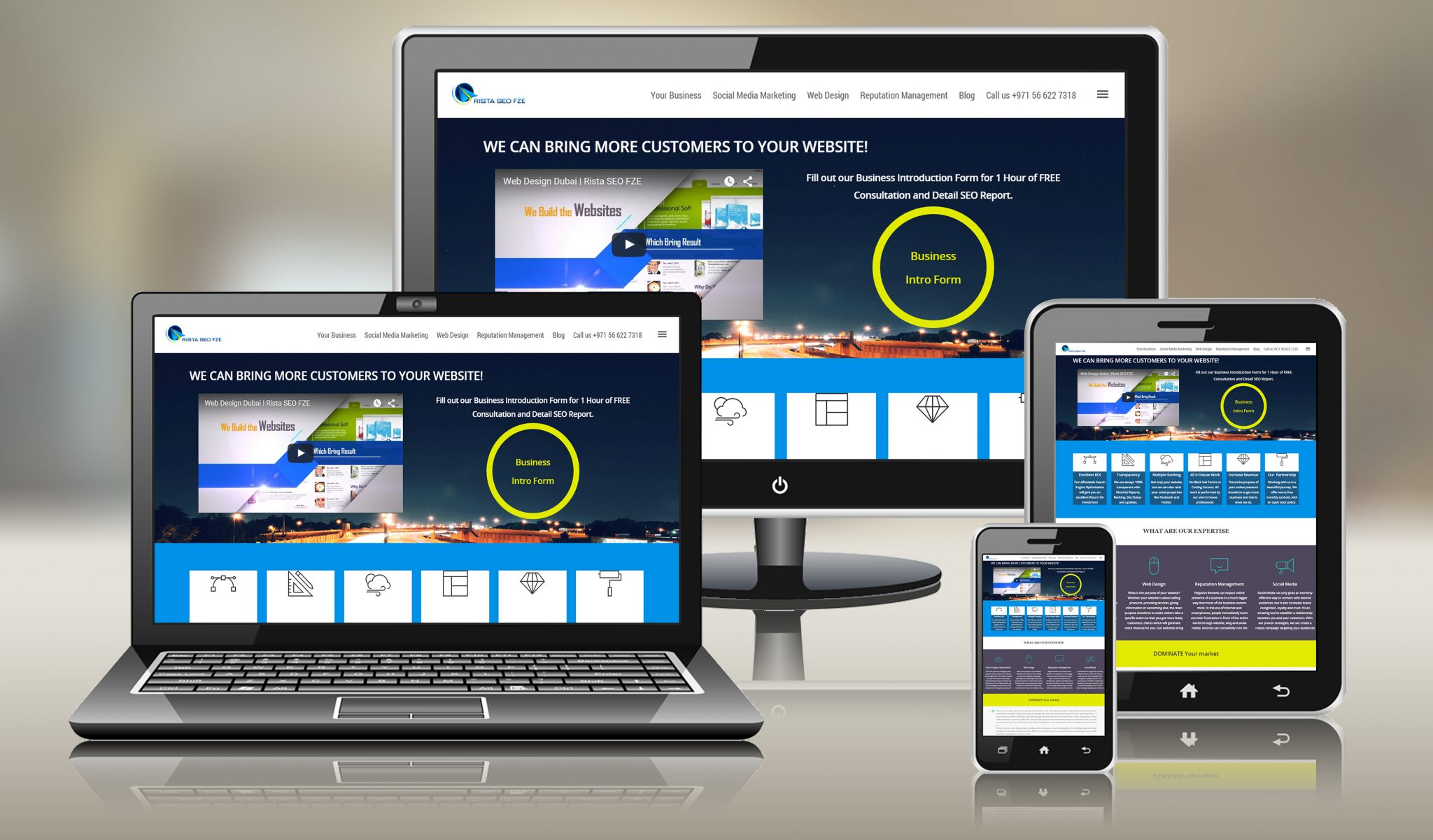 Rista Group Mobile Friendly Website